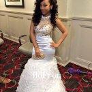 White Satin Prom Dress,Sheath Prom Dresses 2017