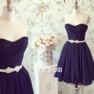 Short Mini Prom Dress,Strapless Prom Dresses 2017