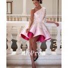 One Shoulder Prom Dress,Knee Length Prom Dresses 2017