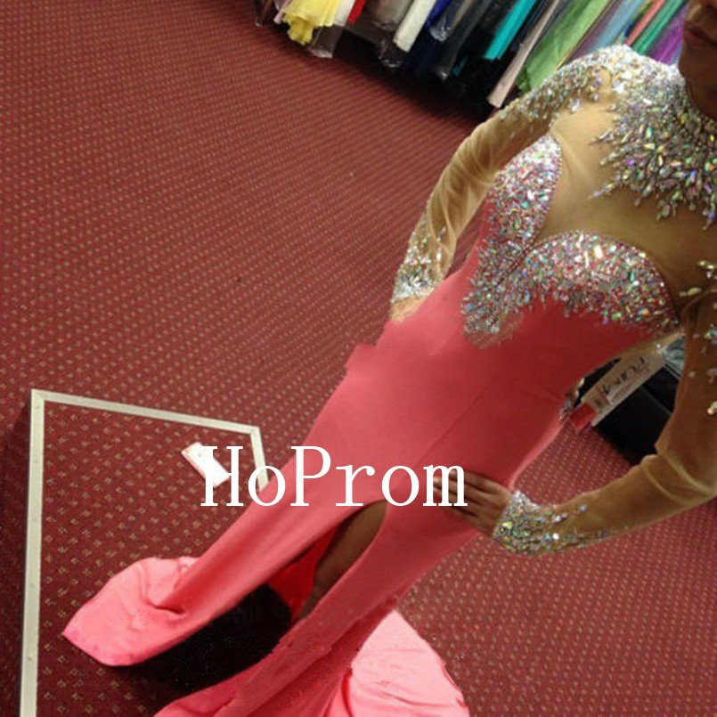 Floor Length Prom Dress,Backless Prom Dresses 2017