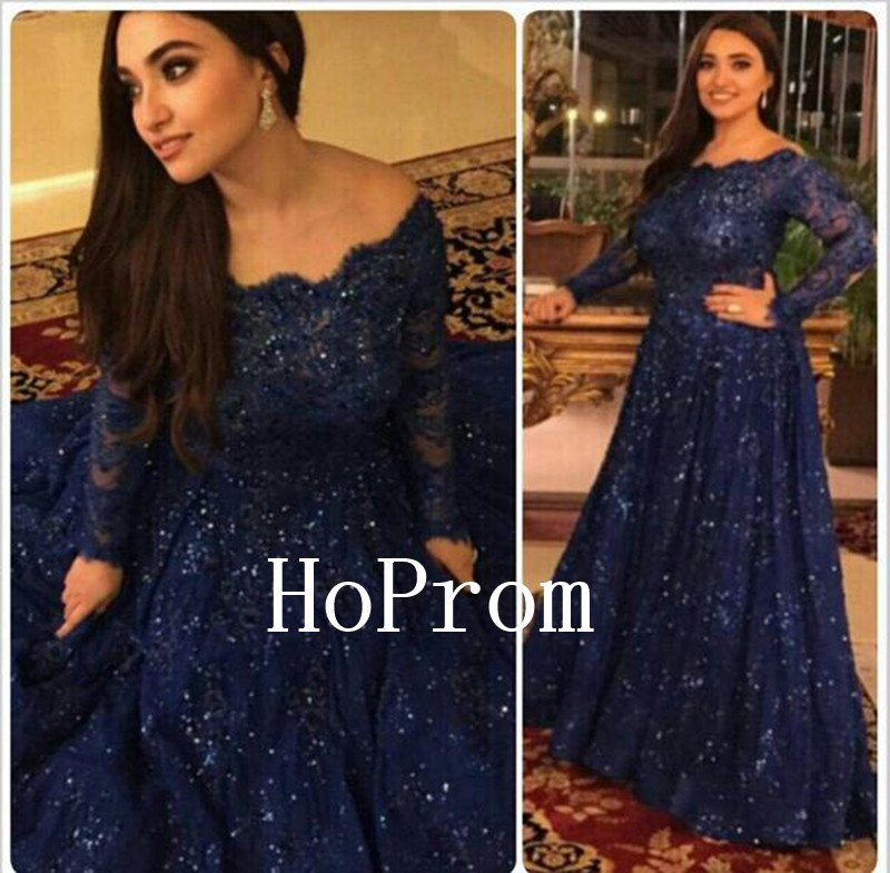 Long Sleeve Prom Dress,Beading Prom Dresses 2017