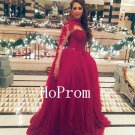 High Neck Prom Dress,Long Sleeve Prom Dresses 2017