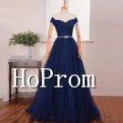 Off Shoulder Prom Dress,Lace Tulle Prom Dresses 2017