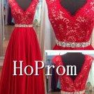 V-Neck Prom Dress,Sleeveless Prom Dresses 2017