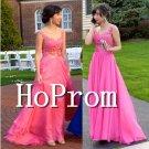 Hot Pink Prom Dress,A-Line Prom Dresses 2017