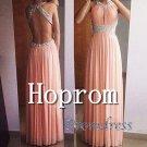Open Back Prom Dress,Halter Prom Dresses 2017