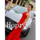 Sleeveless Red Prom Dress,Sheath Prom Dresses 2017