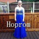 Royal Blue Prom Dress,Sweetheart Prom Dresses 2017