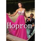 One Shoulder Prom Dress,Hot Pink Prom Dresses  2017
