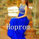 Royal Blue Prom Dress,Sleeveless Prom Dresses 2017