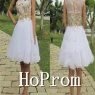 Sleeveless Short Prom Dress,Applique Prom Dresses  2017