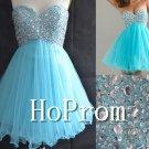 Sweetheart Blue Prom Dress,Short Mini Prom Dresses  2017