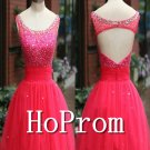 A-Line Prom Dress,Backless Short Prom Dresses  2017