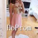 Short Mini Prom Dress,Beading Prom Dresses  2017