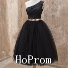 One Shoulder Homecoming Dresses,Knee Length Prom Dresses