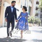 Knee Length Homecoming Dresses,Royal Blue Prom Dresses