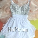 Spaghetti Straps Homecoming Dresses,Sequins Prom Dresses