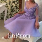 A-Line Homecoming Dresses,Lavender Prom Dresses