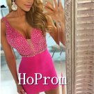 V-Neck Homecoming Dresses,Hot Pink Prom Dresses