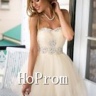Sweetheart Homecoming Dresses,Short Tulle Prom Dresses