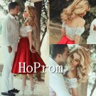 Off Shoulder Homecoming Dresses,Two Piece Prom Dresses