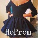Long Sleeve Homecoming Dresses,Off Shoulder Prom Dresses