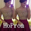 Off Shoulder Homecoming Dresses,Short Sleeve Prom Dresses