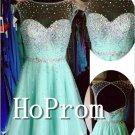 Sleeveless Homecoming Dresses,Short Beaded Prom Dresses