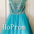 Scoop Capped Homecoming Dresses,Short Tulle Prom Dresses