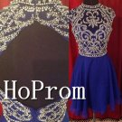 Cap Sleeve Homecoming Dresses,Backless Sparkly Prom Dresses