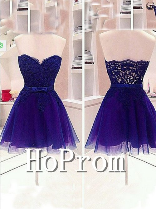 Sweetheart Purple Homecoming Dresses,Short Prom Dresses