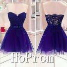 Sweetheart Purple Homecoming Dresses,Short Prom Dresses