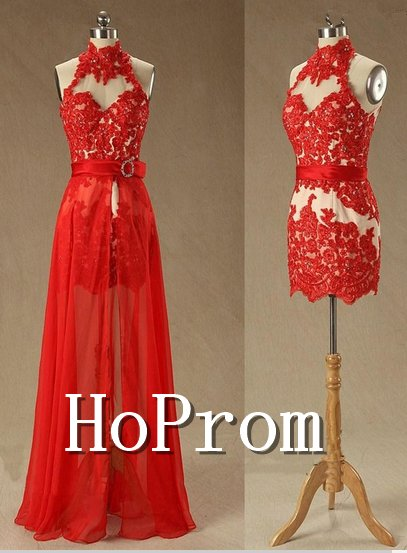 High Neck Homecoming Dresses,Twinset Prom Dresses