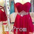 Sweetheart Red Homecoming Dresses,Short Mini Prom Dresses