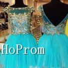 Cap Sleeve Homecoming Dresses,Backless Prom Dresses