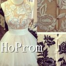 Sleeveless A-Line Homecoming Dresses,Short Prom Dresses