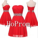 Strapless Red Homecoming Dresses,Chiffon Prom Dresses