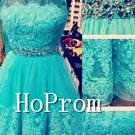Knee Length Homecoming Dresses,Scoop Capped Prom Dresses