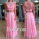 Two Piece Prom Dress,A-Line Prom Dresses