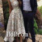 Lace Applique Prom Dress,A-Line Prom Dresses