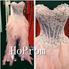 Sweetheart Lovely Prom Dress,A-Line Pink Prom Dresses