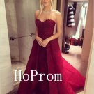 Sweetheart Burgundy Prom Dress,A-Line Prom Dresses