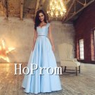 Two Pieces Prom Dress,A-Line Prom Dresses