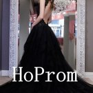 Backless Black Prom Dress,Floor Length Prom Dresses