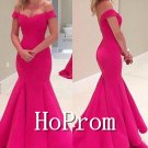 Off Shoulder Prom Dress,Mermaid Long Prom Dresses