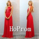 Red Sequined Prom Dress,A-Line Prom Dresses