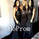 Black Halter Prom Dress,Mermaid Black Prom Dresses