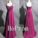 A-Line Chiffon Prom Dress,Bandage Long Prom Dresses