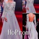 Long Sleeve Prom Dress,A-Line Prom Dresses