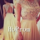 Cap Sleeve Prom Dress,A-Line Prom Dresses